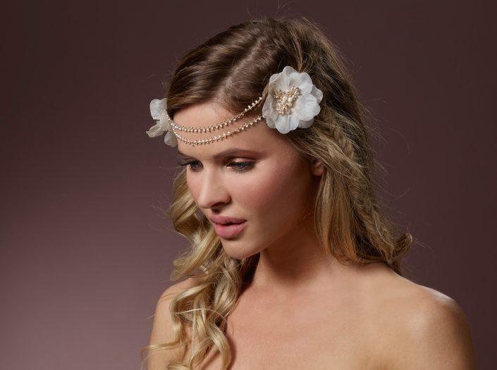 Headband à fleurs perlé