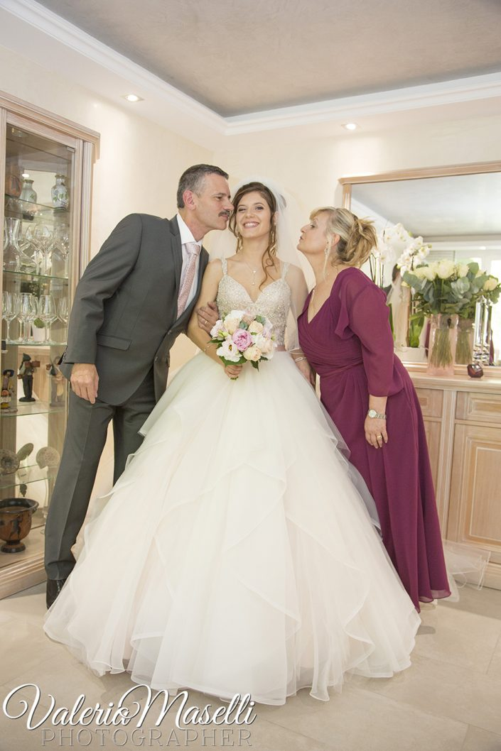 Laura et ses parents : Juin 2018