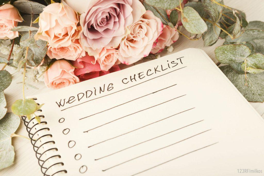 Organisation de mariage: checklist